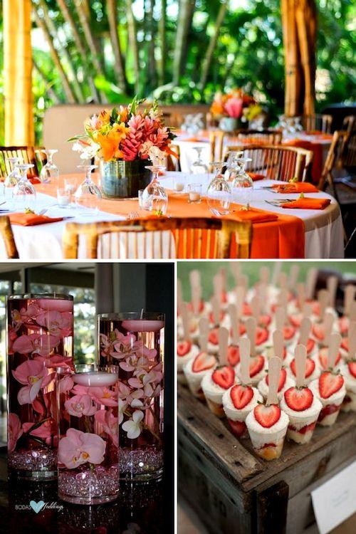 Ideas de arreglos de mesa para fiestas en la playa. Un centro de mesa diferente y refrescante pensado en tus invitados y el verano junto al mar.
