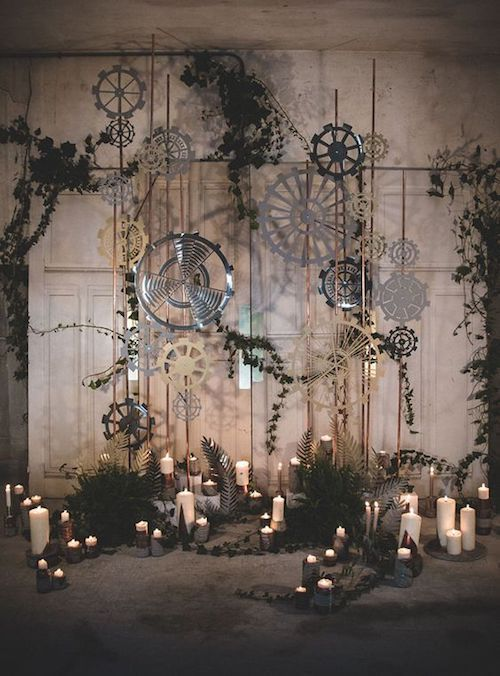 Industrial spaces are perfect for the moody wedding aesthetic.