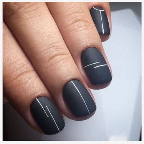 A nail art trend that has everyone dripping with thirst. Minimalistic and impactful.