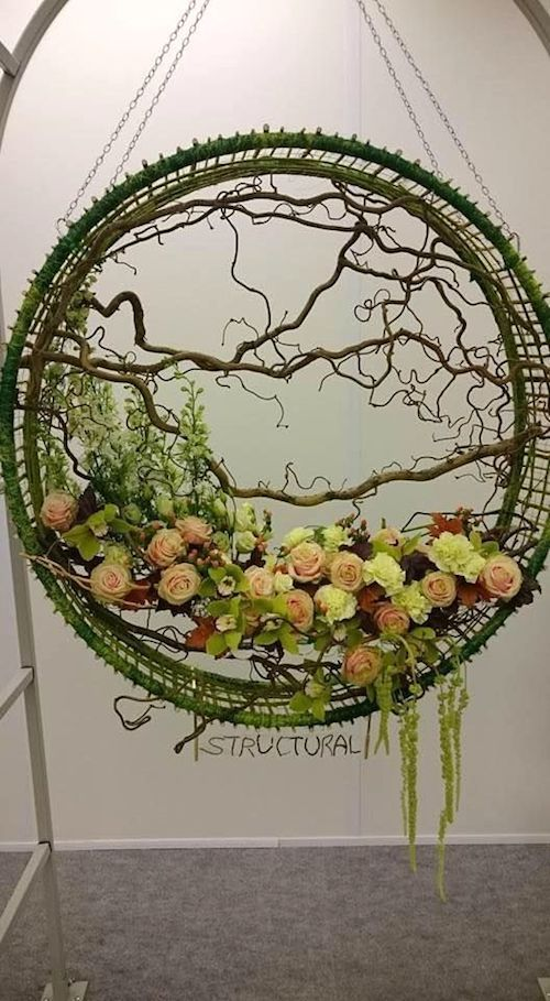 If you would rather not glue branches and flowers all around, get inspired by this idea.