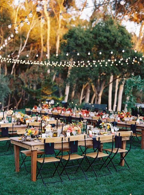 How to throw a perfectly organized DIY wedding in your backyard.