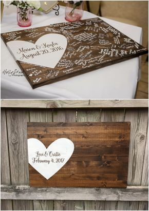 Alternative guest books are a great way to have your guests break the ice and a memory you will treasure for years to come.