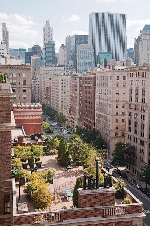 Jardín de una azotea privada en New York. Ideal para una boda con todo el lujo.
