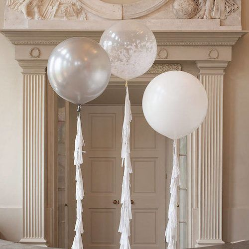 Balloon decorations for wedding reception halls.
