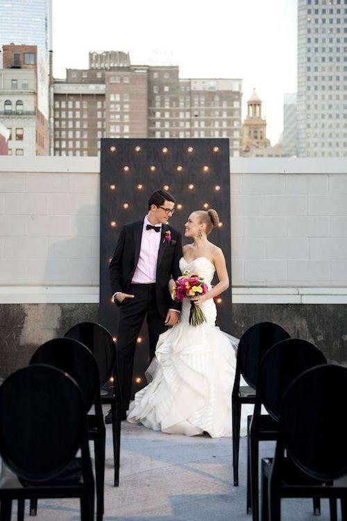 Divina boda en una terraza de Houston, TX.
