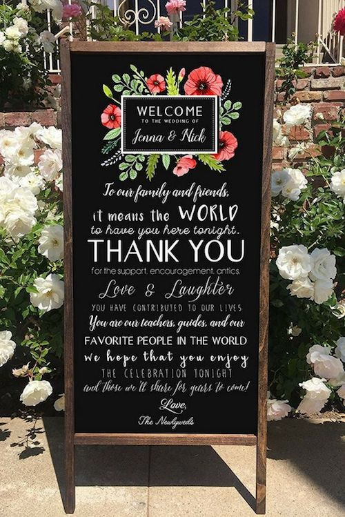 Boho welcome sign.