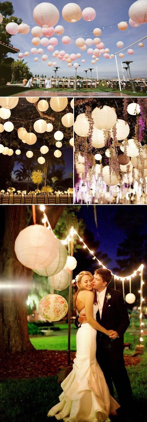 A budget friendly way to decorate your wedding venue.