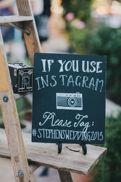 Love the choice of fonts on this chalkboard sign!