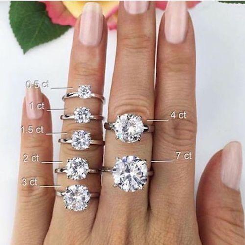 Cómo elegir anillos de compromiso. En lugar de 2 carates escoge 1.95 y nadie notará la diferencia con la excepción de tu bolsillo.