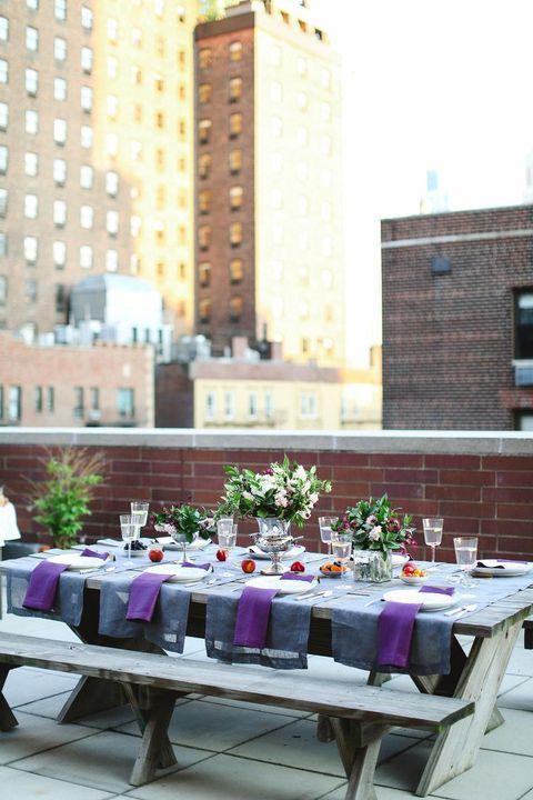 Preciosa decoración de bodas en terrazas privadas.