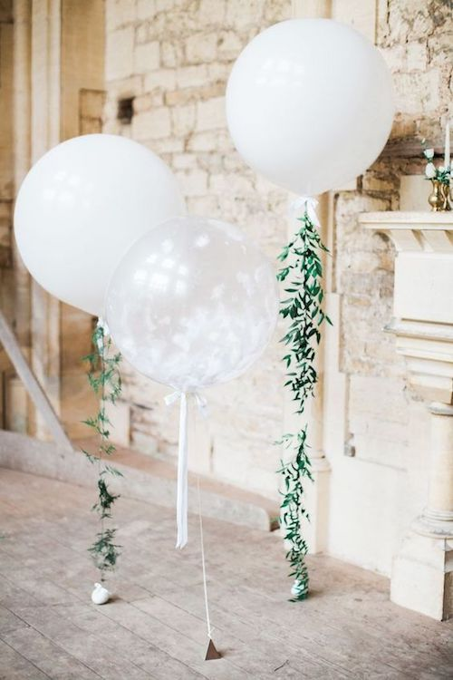 DIY floral balloons and an affordable wedding decor.