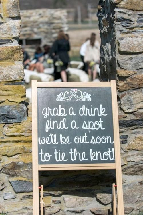 This funny and sweet welcome wedding sign will put a smile on your guests faces.