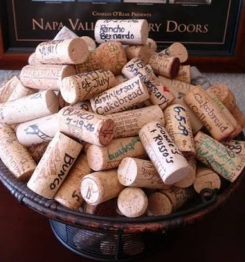 It is sweet to remember our wedding day and all the special people who were present. DIY your guest signature book with corks!