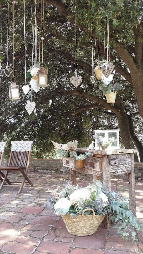 How to plan a backyard wedding: don't forget the guestbook table!