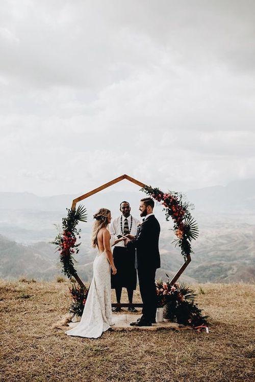 Idea para una boda en medio de la naturaleza.