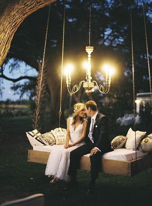 Intimate backyard weddings are adorably cute and number one for feeling comfy and homey all day.