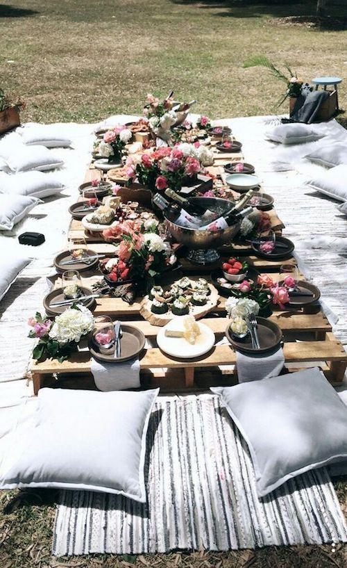Plan a backyard wedding boho style.