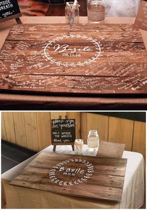 Adorable signature board you may use as home decor.