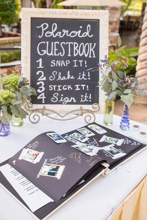 Forget traditional guest books and go for something memorable and fun instead.