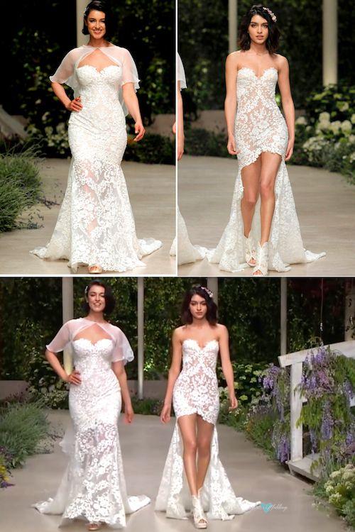Luciendo sus curvas con todo el orgullo en un vestido de talla grande de Pronovias. El sueño hecho realidad.