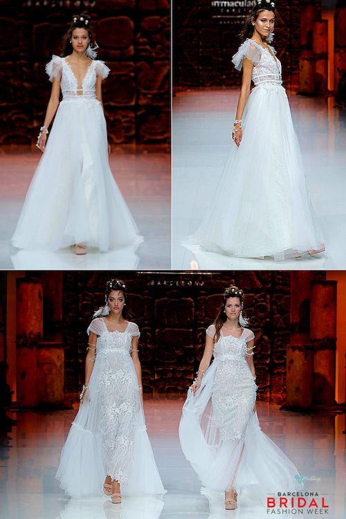 No hay palabras para describir la belleza de estos vestidos de novia de la colección de Inmaculada 2019.