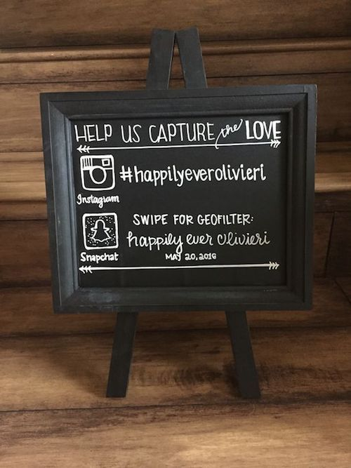 Wedding signs help incorporate social media to your celebration.