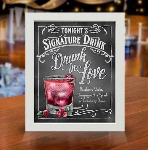 A different idea to welcome your guests: a signature drink!