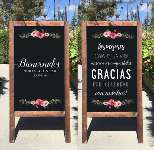 Welcome your guests and let them know how important they are to you on a sandwich board!