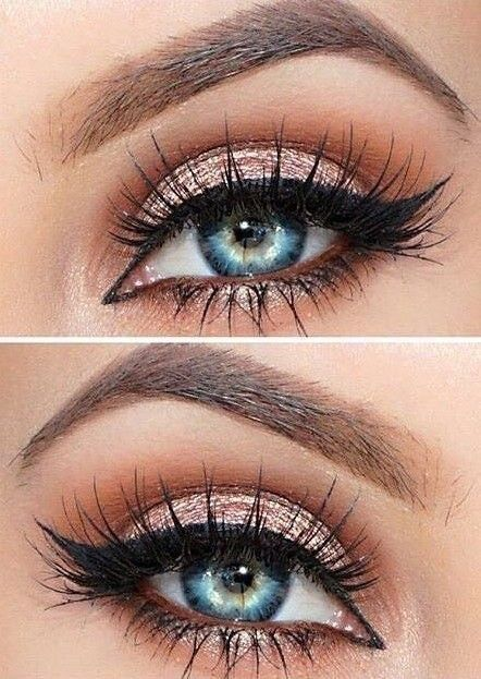 Classic, natural eyelashes and an eye makeup that is goals!