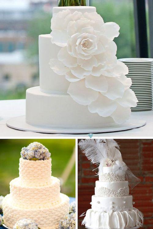Esperamos que te agrade esta colección de pasteles de boda blancos sencillos y elegantes.