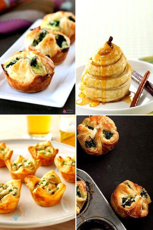 Desde bollitos de espinacas o de patata y cebolla hasta peras cubiertas en miel, hay cientos de recetas para preparar, una vez que sabes cómo hacer masa de hojaldre casera.