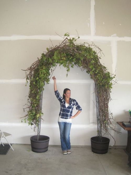 Discover how to build a wedding arch.