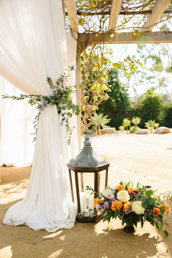 Spanish-inspired wedding arch ideas.
