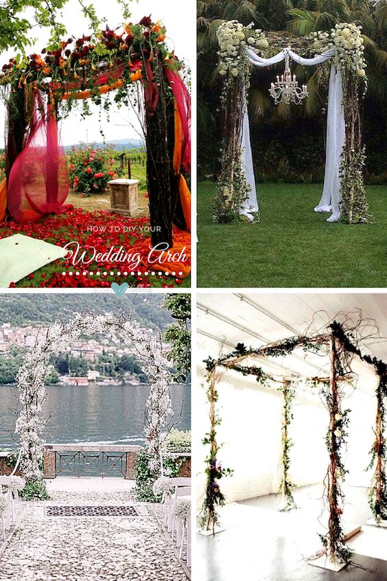 Beautiful wedding canopies to DIY.