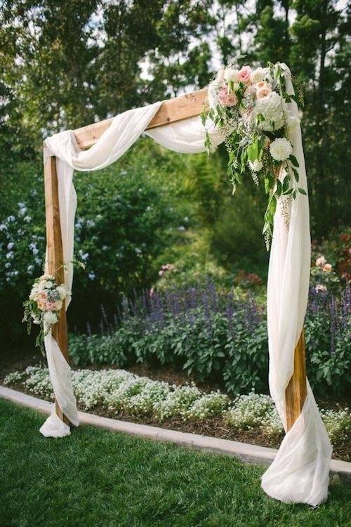 Simple wedding ceremony arch ideas that fit any budget
