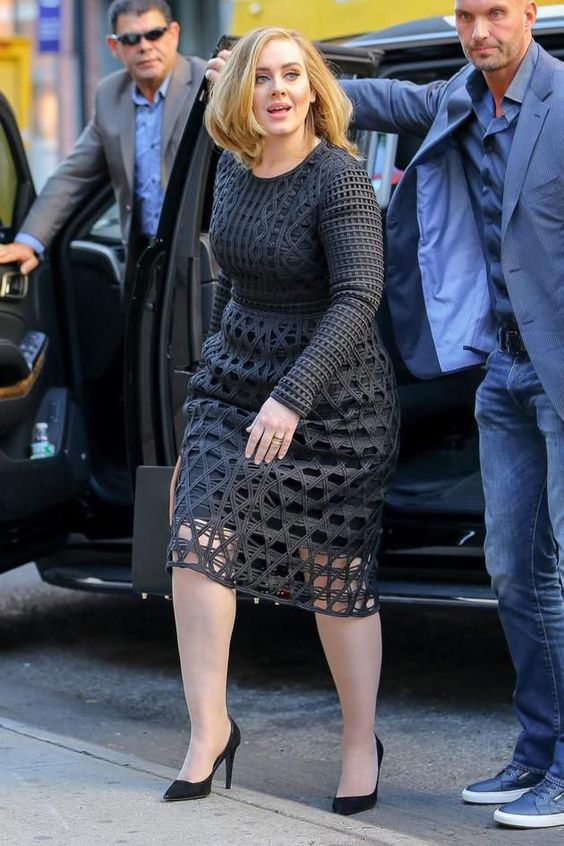 Steal Adele's look to attend your upcoming event. Love the lace layer!