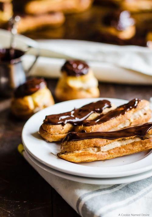 These lightly sweet chestnut cream eclairs and profiteroles are the elegant dessert you've been searching for all winter long. By cookienameddesire.