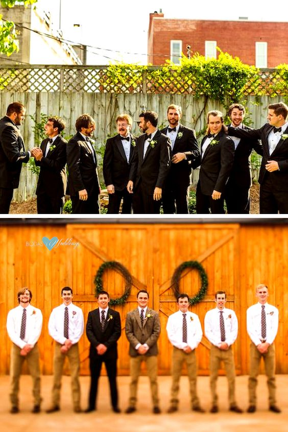 ¡Listos los groomsmen! Christian David Photo.