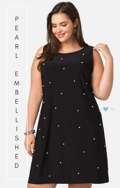 Plus size fashion has reached the top of cuteness with this pearl embellished dress by shopstyle.