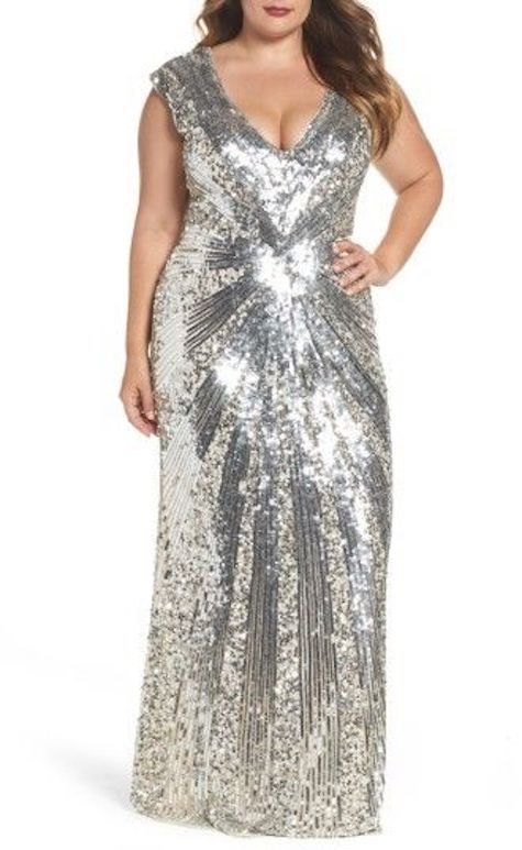 Go full blown glam with a plus size sequin gown!