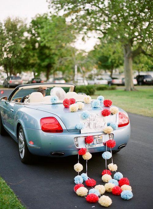 Pom pom getaway car. Photo credit: Justin DeMutiis photography.
