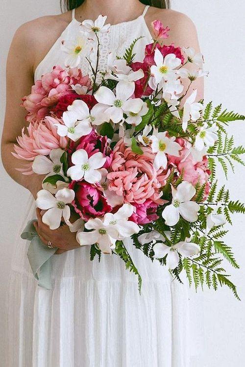 Hermoso ramo de boda rosa suave para inspirarte. Colores suaves y femeninos con acentos perfectos.