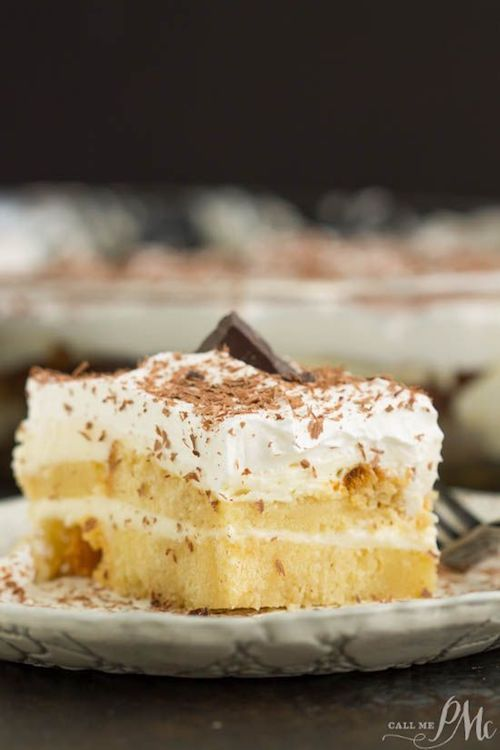 This Tiramisu with pound cake is a rich and elegant dessert. It has bold flavors of coffee and amaretto to warm you up in winter. By callmepmc.