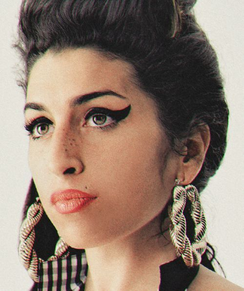 Amy Winehouse and her iconic eyeliner.