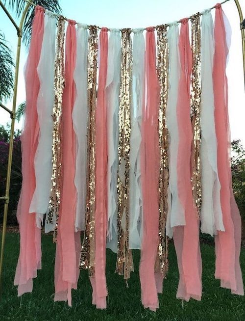 Love these colors for a beach wedding ceremony backdrop!