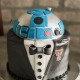 Best groom's cake ideas. R2D2 in Texas Tech University groom attire. Photographer: Binford Creative Photography.