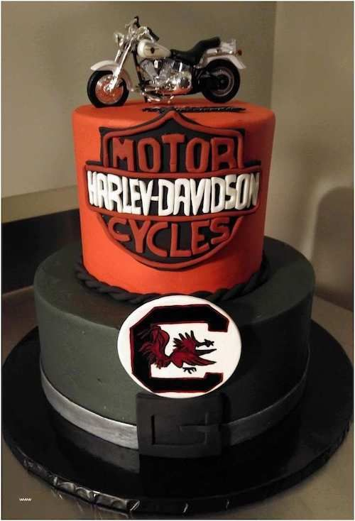 Celebrate the biker in him. The groom's cake tradition.