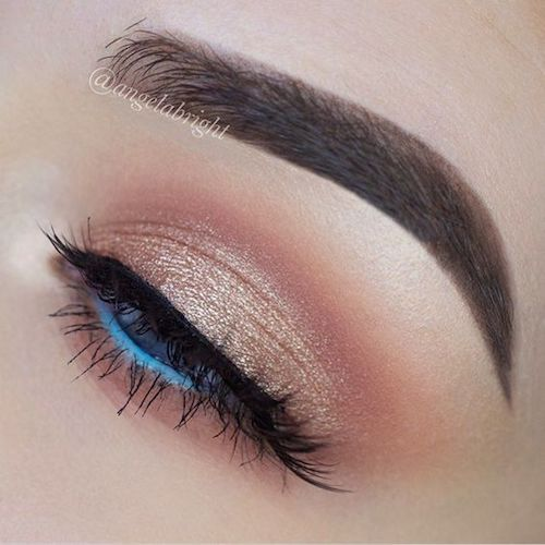 Loving the blue color eyeliner!