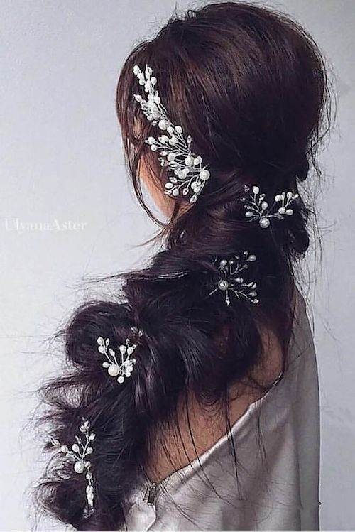 Gorgeous braided ponytails for bridesmaids - or wedding guests.. why not?