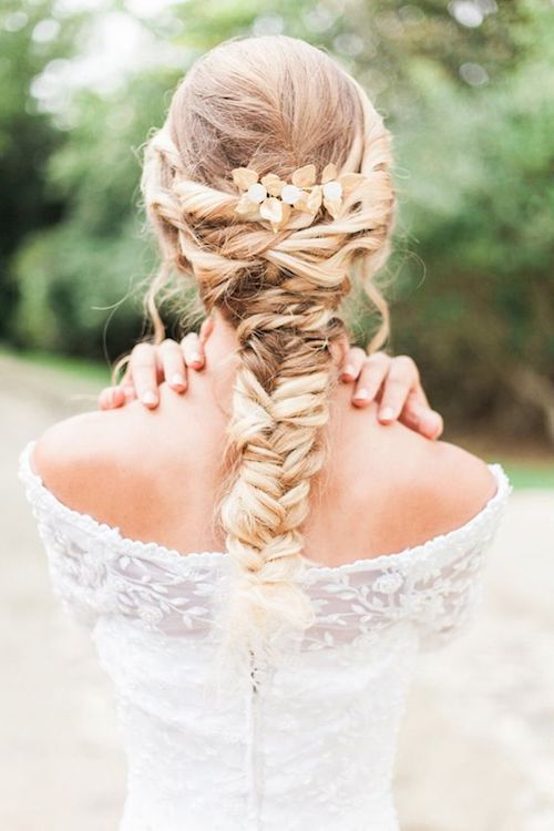 These braided wedding hairstyles will look fab in photos and you wont have to worry about hair on your face. New Bern, NC.